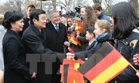 Truong Tan Sang und Joachim Gauck treffen Journalisten