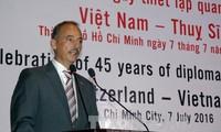 45jährige Aufnahme diplomatischer Beziehungen zwischen Vietnam und der Schweiz