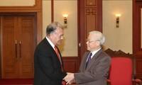 KPV-Generalsekretär Nguyen Phu Trong trifft Delegation der Arbeiterpartei Mexikos