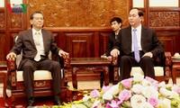 Staatspräsident Tran Dai Quang trifft den japanischen Botschafter in Vietnam