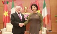 Nguyen Thi Kim Ngan trifft Irlands Präsident Higgins