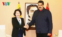 Nguyen Thi Kim Ngan trifft Venezuelas Präsident Nicolas Maduro