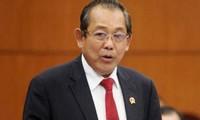 Truong Hoa Binh nimmt an Bilanzkonferenz über Gewährleistung der Verkehrssicherheit teil
