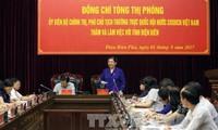 Vizeparlamentspräsidentin Tong Thi Phong tagt mit Leitern der Provinz Dien Bien