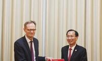 Ho Chi Minh Stadt verstärkt die Zusammenarbeit mit Finnland und Ägypten