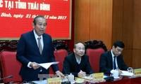 Vizepremierminister Truong Hoa Binh besucht Thai Binh