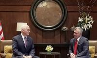 US-Vizepräsident trifft den jordanischen König Abdullah II