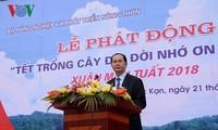 Der Staatspräsident eröffnet das Pflanzenfest zum Neujahr