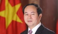 Staatspräsident Tran Dai Quang würdigt Indiens Initiative zur Entwicklung