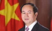 Staatspräsident Tran Dai Quang beantwortet Fragen ägyptischer Journalisten