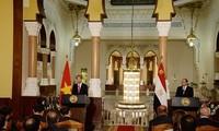 Abdel Fattah el-Sisi und Tran Dai Quang nehmen an Pressekonferenz teil