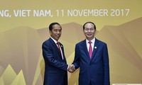 Staatspräsident Tran Dai Quang empfängt Indonesiens Präsident Joko Widodo