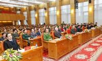 KPV-Generalsekretär, Staatspräsident Nguyen Phu Trong nimmt an Landeskonferenz der Polizei teil