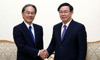 Vizepremierminister Vuong Dinh Hue empfängt den AEON-Präsidenten