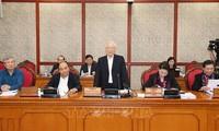 KPV-Generalsekretär und Staatspräsident Nguyen Phu Trong leitet die Sitzung des Politbüros
