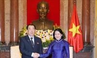 Vizestaatspräsidentin Dang Thi Ngoc Thinh trifft den Vorsitzenden des Zentralen Gerichts Nordkoreas