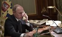 Staats- und Regierungschefs Deutschlands, Russlands und Frankreichs diskutieren brennende Themen