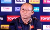 Pressekonferenz der Fußballnationalmannschaft vor dem Fußballturnier King's Cup