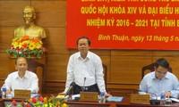 越南国会副主席杜伯巳对平顺省的选举准备工作进行检查