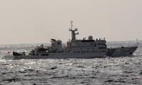 三艘中国海警船出现在与日本争议岛屿附近