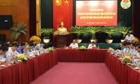 越南祖阵中央委员会主席阮善仁与越南农民协会举行工作座谈会