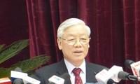 阮富仲:反腐败要有更大的决心并采取更坚决的行动