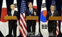 韩国、美国和日本三国就继续对朝鲜施压达成共识
