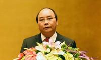 阮春福与韩国代总统兼总理黄教安互致贺电