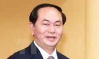 越南国家主席陈大光和夫人开始对中国进行国事访问