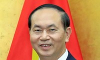越南国家主席陈大光和夫人离开河内对印度进行国事访问