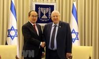 胡志明市委书记阮善仁会见以色列总统里夫林