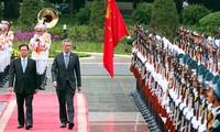 Singapurs Premierminister Lee Hsien Loong beendet seinen Vietnambesuch
