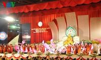 Internationale Kunstdarbietung über Buddhismus im Vesakfest