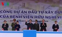 Premierminister Dungs Spatenstich zum Baubeginn der neuen Krankenhäuser Bach Mai und Viet Duc