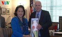 Vizeparlamentspräsidentin Nguyen Thi Kim Ngan schließt ihren USA-Besuch ab