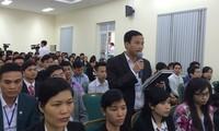 Vorsitzender der Vaterländischen Front Vietnams Nguyen Thien Nhan trifft Wähler in Bac Giang
