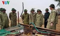 Vizepremierminister überprüft die Schutzmaßnahmen gegen Taifun Dianmu