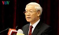 KPV-Generalsekretär Nguyen Phu Trong gibt der Stimme Vietnams ein Interview