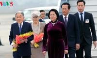 Empfang des japanischen Kaisers und der Kaiserin in Hanoi