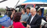 Israels Präsident besucht die Halong-Bucht