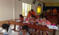 Khmer-Unterricht in der Stadt