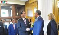 Staatspräsident Tran Dai Quang führt Gespräch mit Präsident der russischen Duma Volodin
