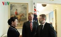 Parlamentspräsidentin führt Gespräch mit Präsidenten des Senats und Repräsentantenhauses Australiens