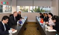 Parlamentspräsidentin Nguyen Thi Kim Ngan nimmt an Vietnam-Australien-Unternehmensdialog teil