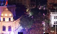 Begrüßung des Neujahrs landesweit