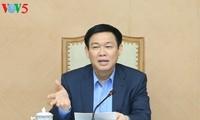 Vuong Dinh Hue leitet die Sitzung der Kommission für Verwaltung des staatlichen Kapitals