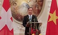 Vietnams Delegation in Genf trifft sich am Anfang vom Jahr des Hundes