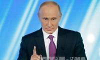 Russlands Präsident Putin betont die Notwendigkeit internationaler Zusammenarbeit