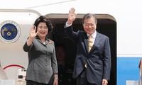 Südkoreas Präsident Moon Jae-in besucht Indien