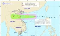 Verlauf des Taifuns Son-tinh (Henry) strickt folgen